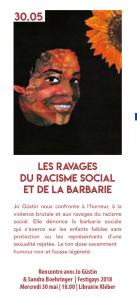 Librairie Kléber Jo Güstin 30 mai